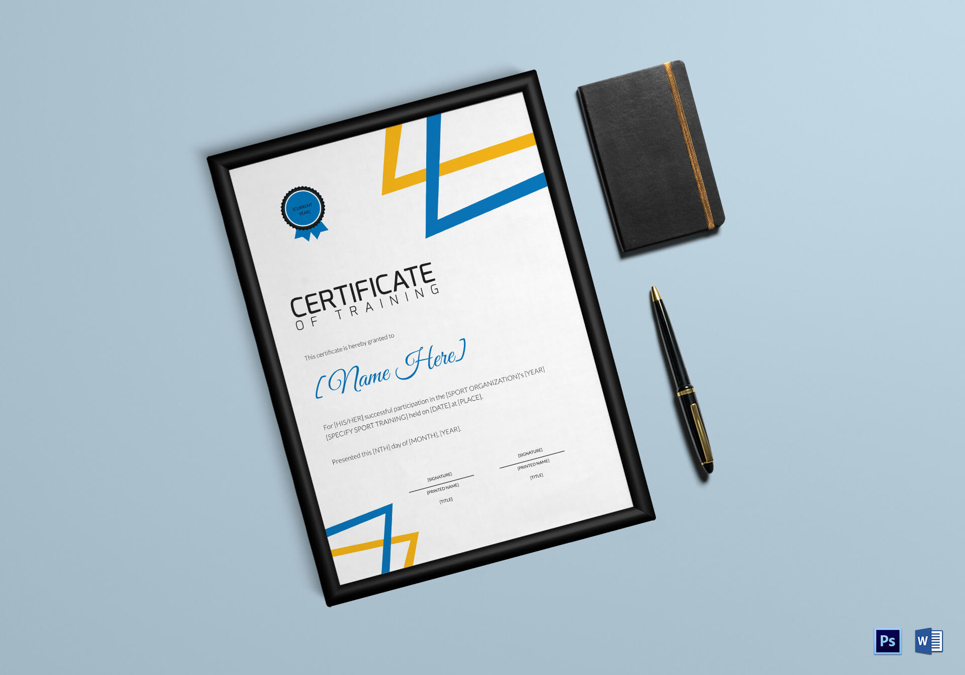 Training Participation Certificate Template - Major throughout Manager Of The Month Certificate Template