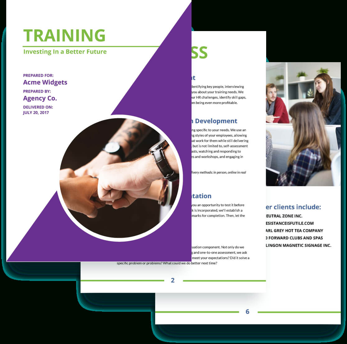 Training Proposal Template – Free Sample | Proposify With Training Brochure Template