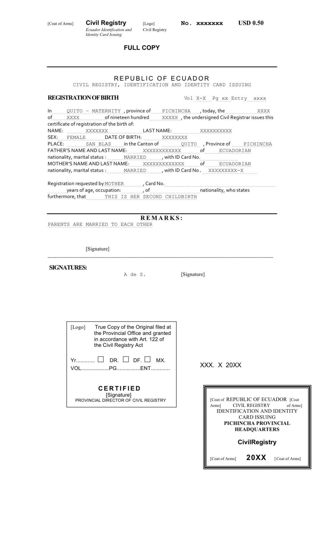 Translate Mexican Birth Certificate A To English Template within Birth Certificate Translation Template English To Spanish