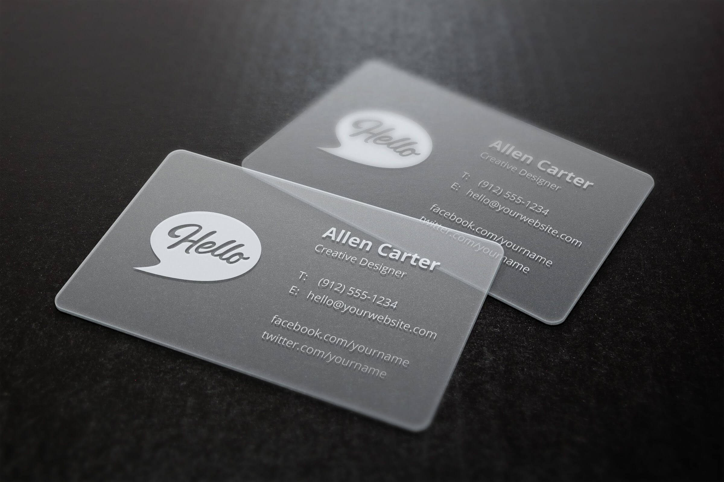 Translucent Business Cards Mockup | Business Card Mock Up Pertaining To Transparent Business Cards Template