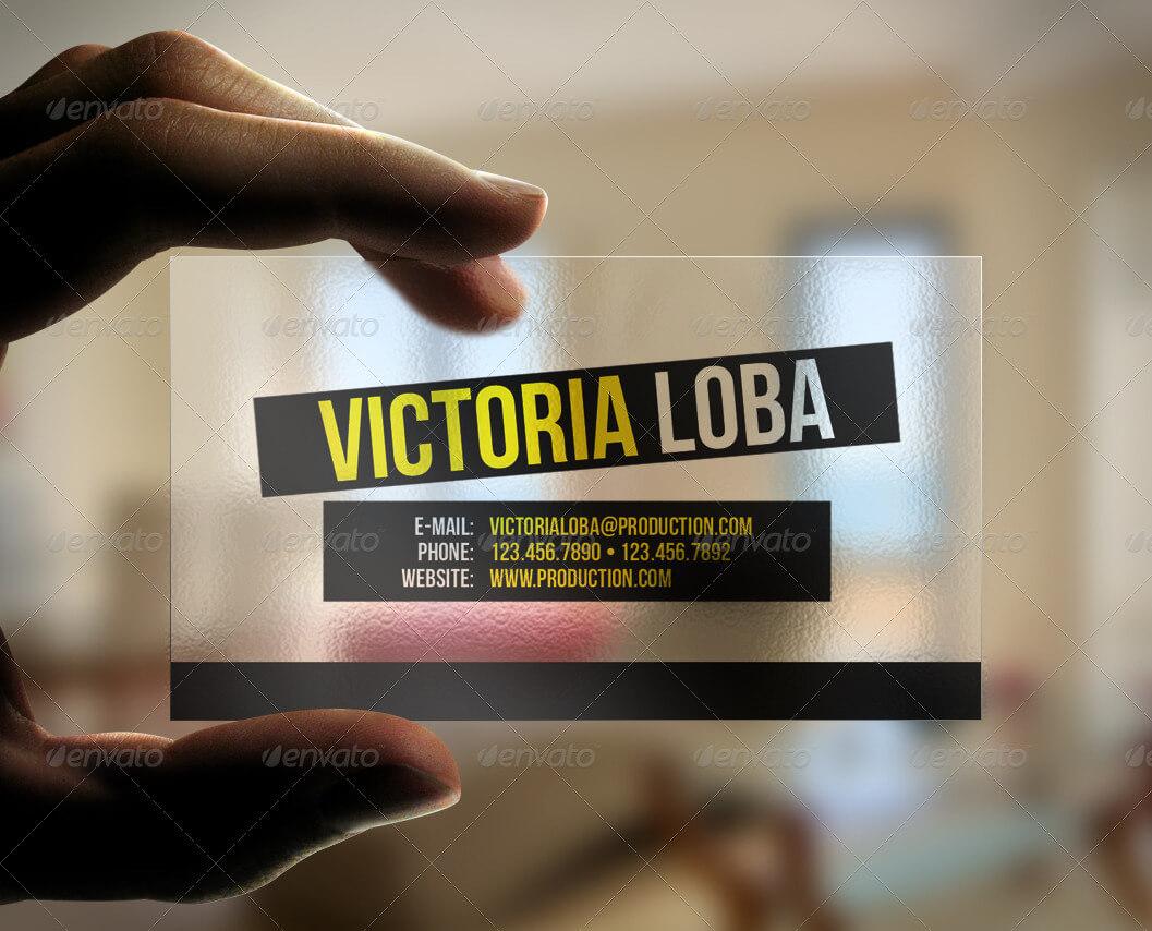 Transparent Business Card Templates & Designs From Graphicriver in Transparent Business Cards Template