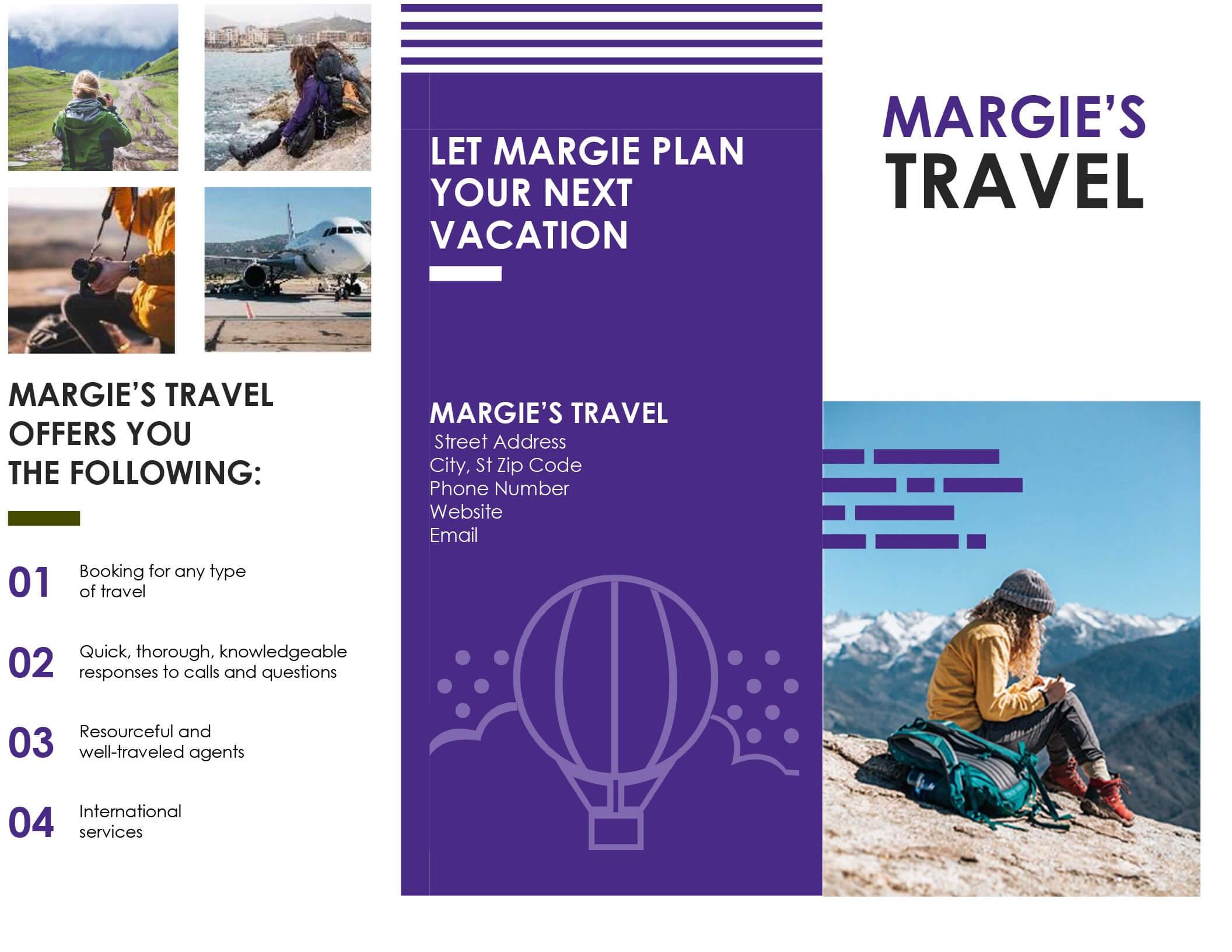 Travel Brochure Regarding Word Travel Brochure Template Throughout Word Travel Brochure Template