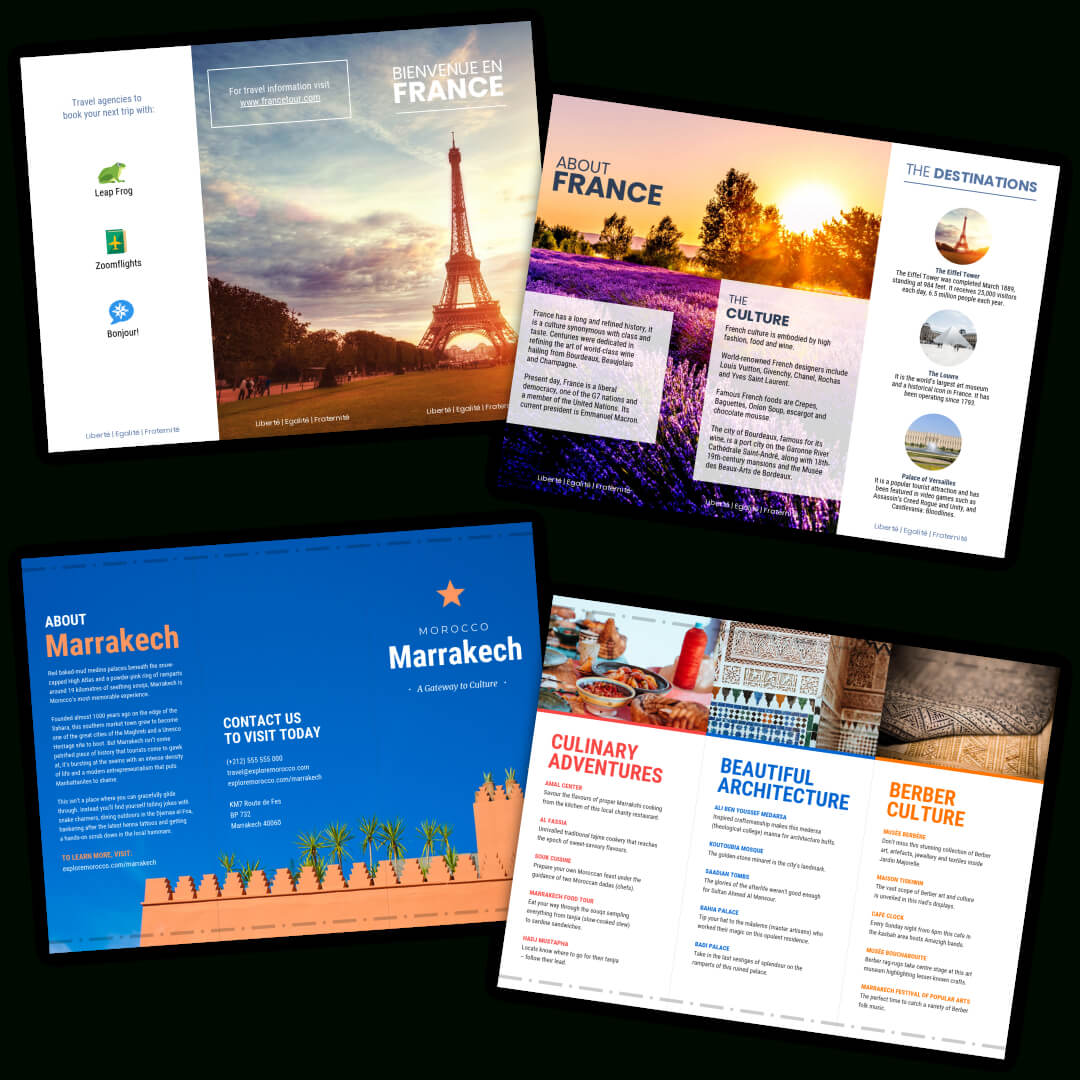 Travel Brochure Templates - Make A Travel Brochure - Venngage in Travel Brochure Template For Students