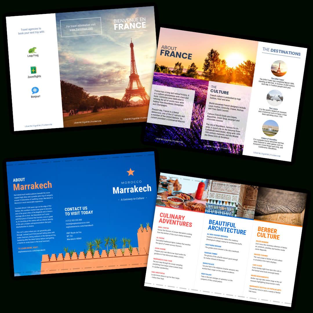 Travel Brochure Templates – Make A Travel Brochure – Venngage In Travel Brochure Template For Students