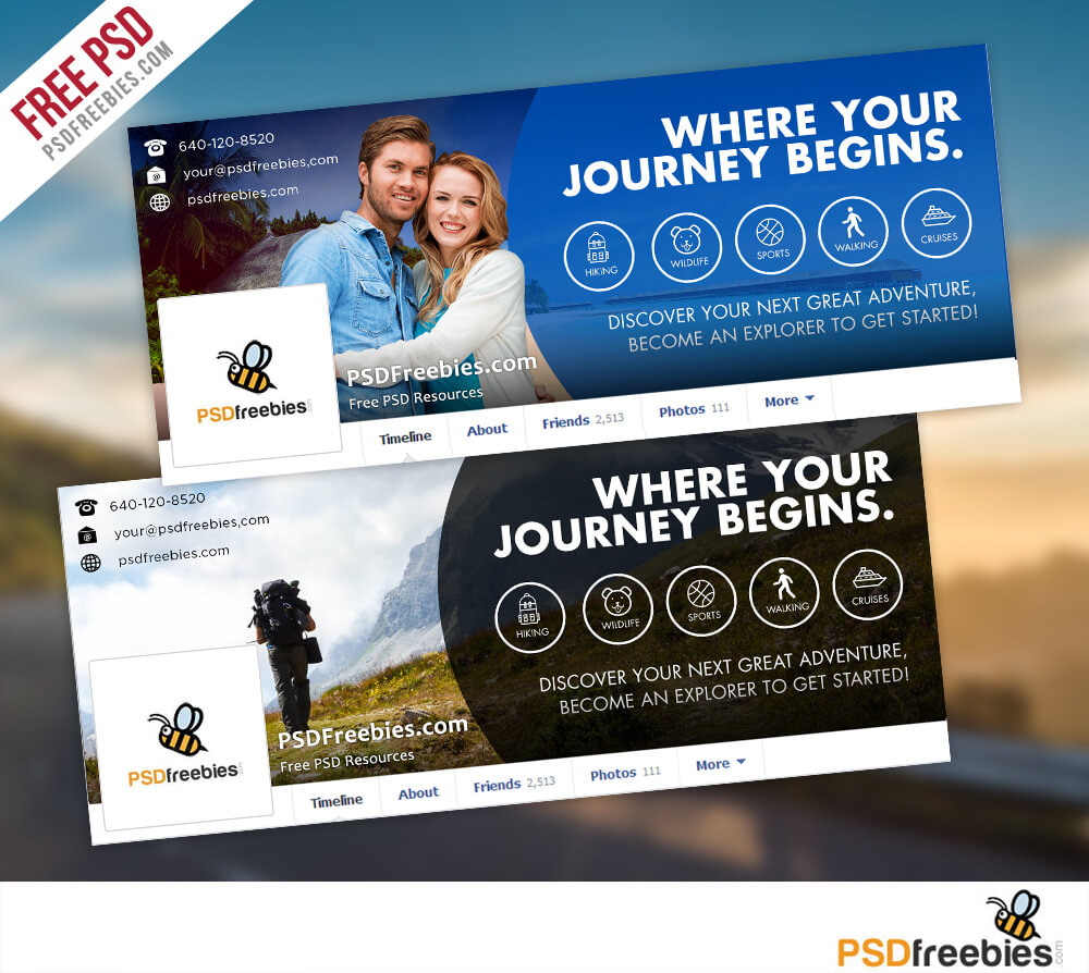 Travel Facebook Timeline Covers Free Psd Templates Intended For Facebook Banner Template Psd