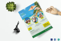 Travel Flyer Template within Word Travel Brochure Template