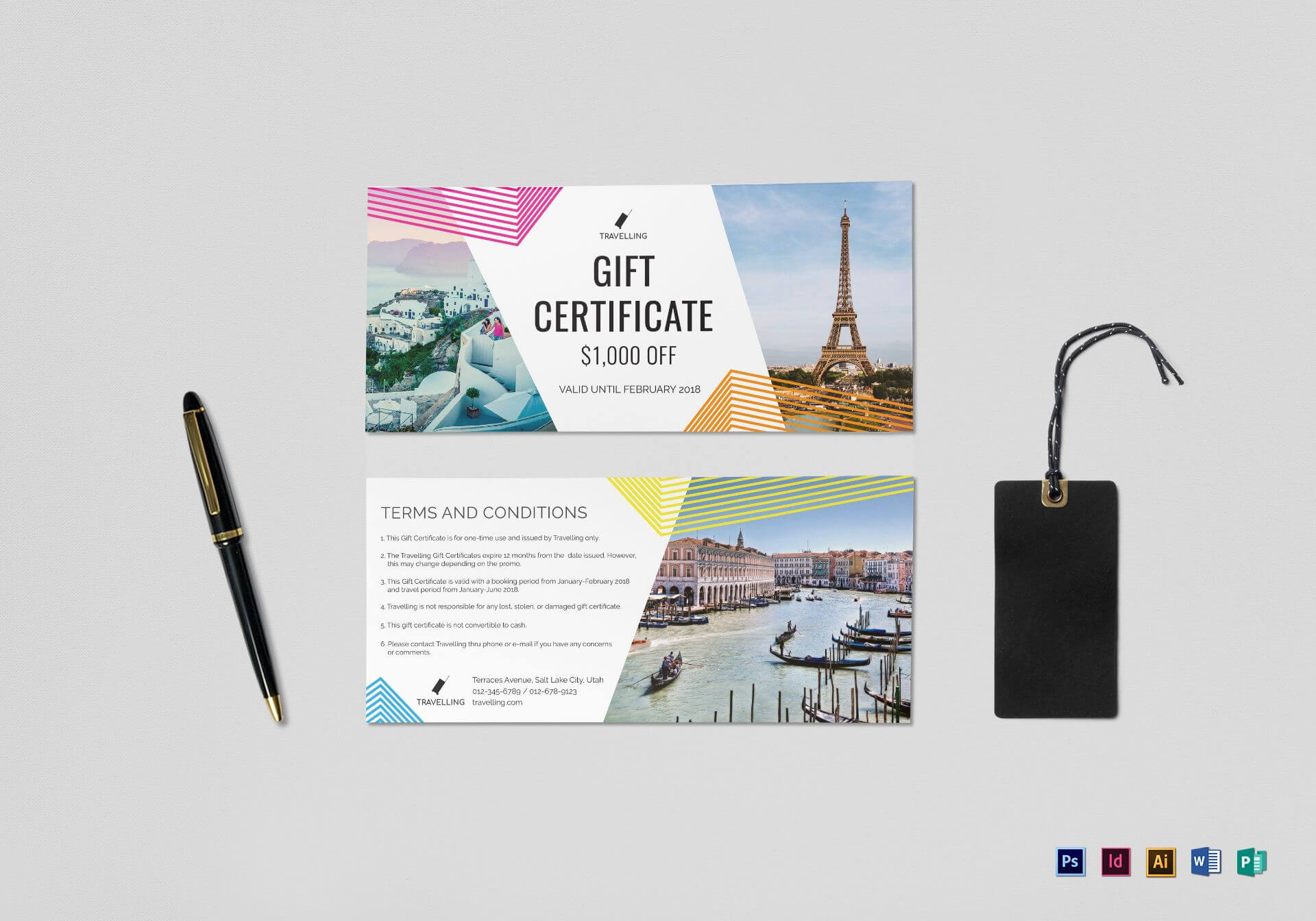 Travel Gift Certificate Template Throughout Indesign Gift Certificate Template
