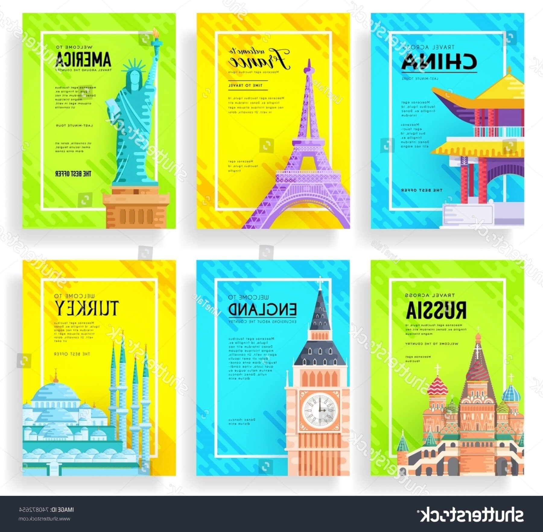 Travel Guide Brochure Template New Travel Flyer Template within Country Brochure Template