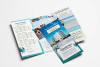 Travel Hotel Tri-Fold Brochure Template intended for Hotel Brochure Design Templates