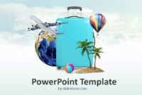 Travel Template Powerpoint Borders Travient Hotel & Agency within Tourism Powerpoint Template