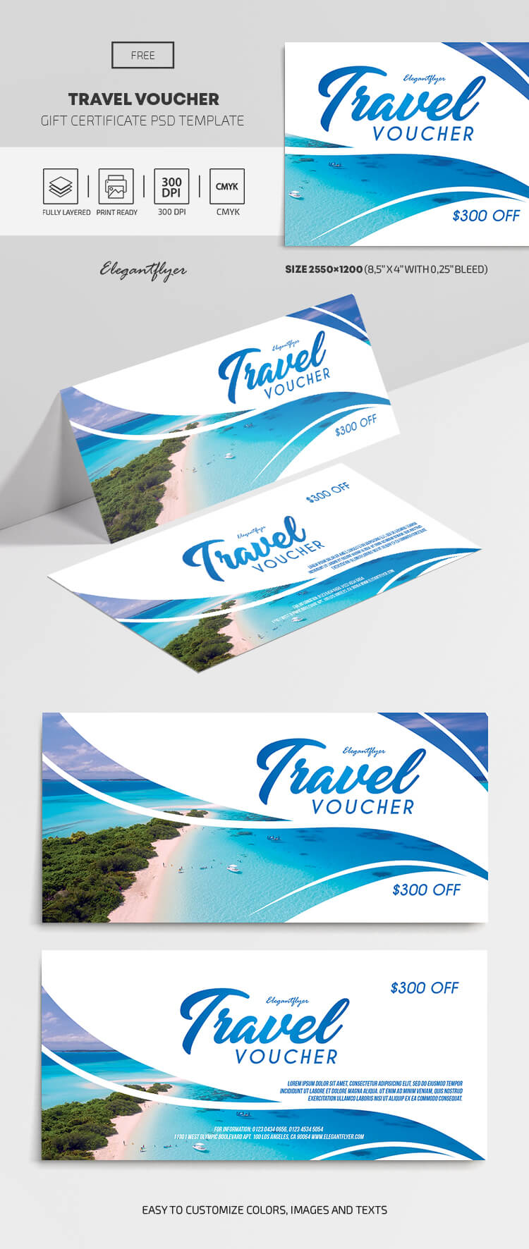 Travel Voucher – Free Gift Certificate Template – with Free Travel Gift Certificate Template
