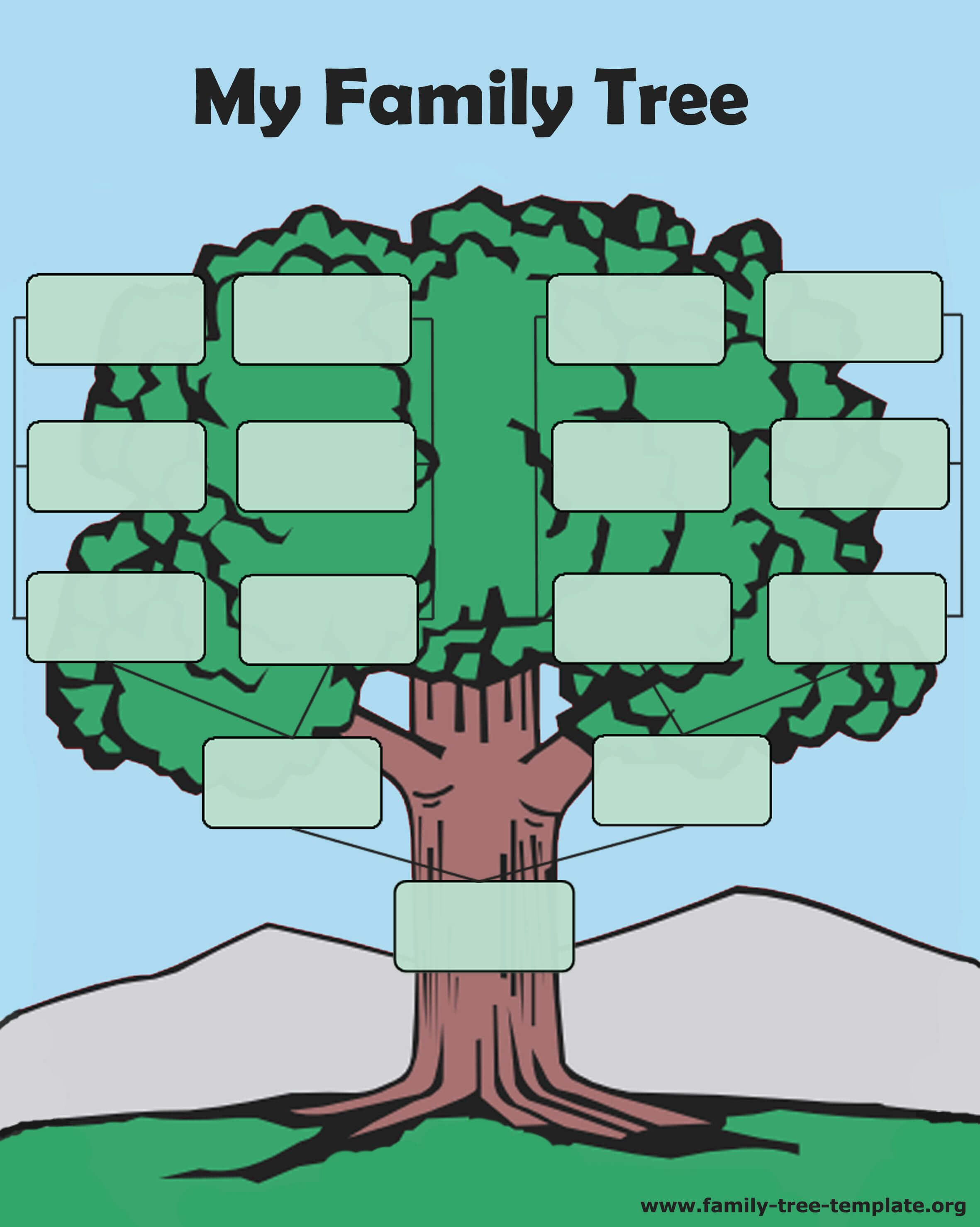 Tree Forms To Print And Fill Out Another Printable Oak Tree With Fill In The Blank Family Tree Template