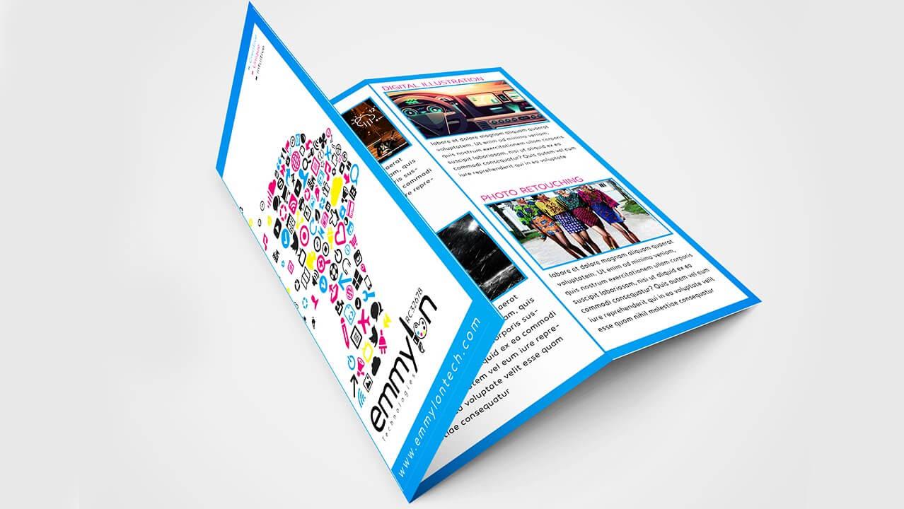 Tri Fold Brochure Design Layout | Adobe Illustrator (#speedart) With Regard To Adobe Illustrator Tri Fold Brochure Template