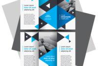 Tri Fold Brochure Design Template Blue Color Intended For E Brochure Design Templates