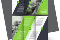 Tri-Fold Brochure Design Template Green within Adobe Tri Fold Brochure Template
