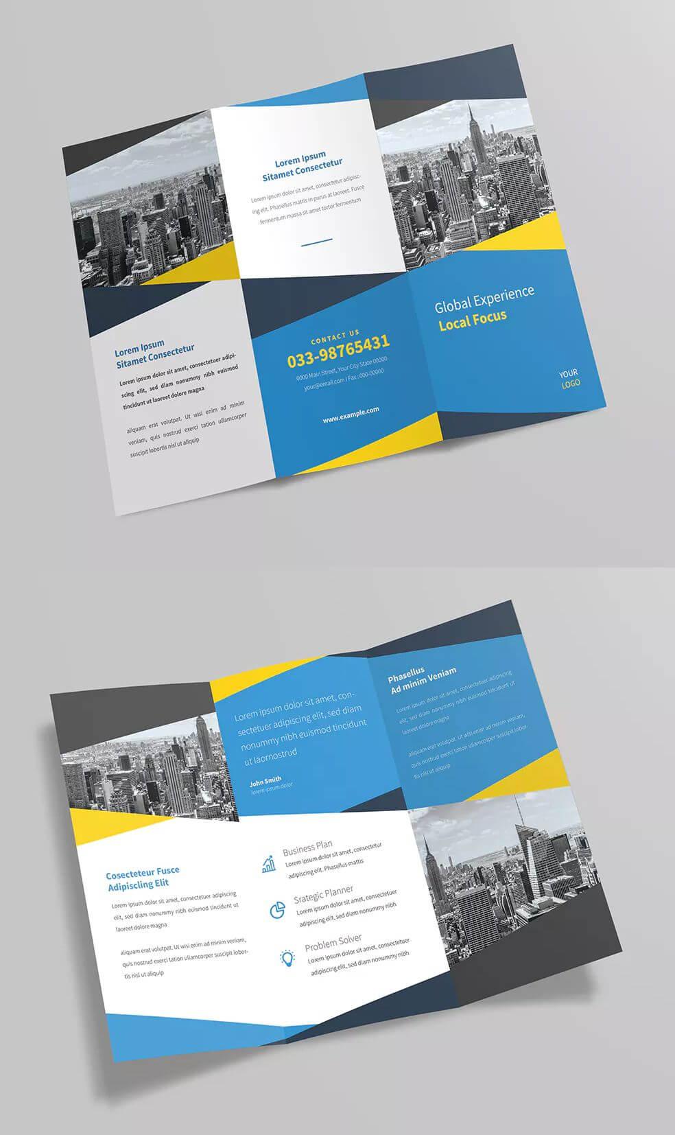Tri-Fold Brochure Template Ai, Psd • Well Organized Layers in Tri Fold Brochure Ai Template