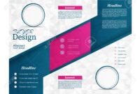 Tri-Fold Brochure Template.corporate Business Background Or Cover.. regarding Tri Fold Brochure Publisher Template