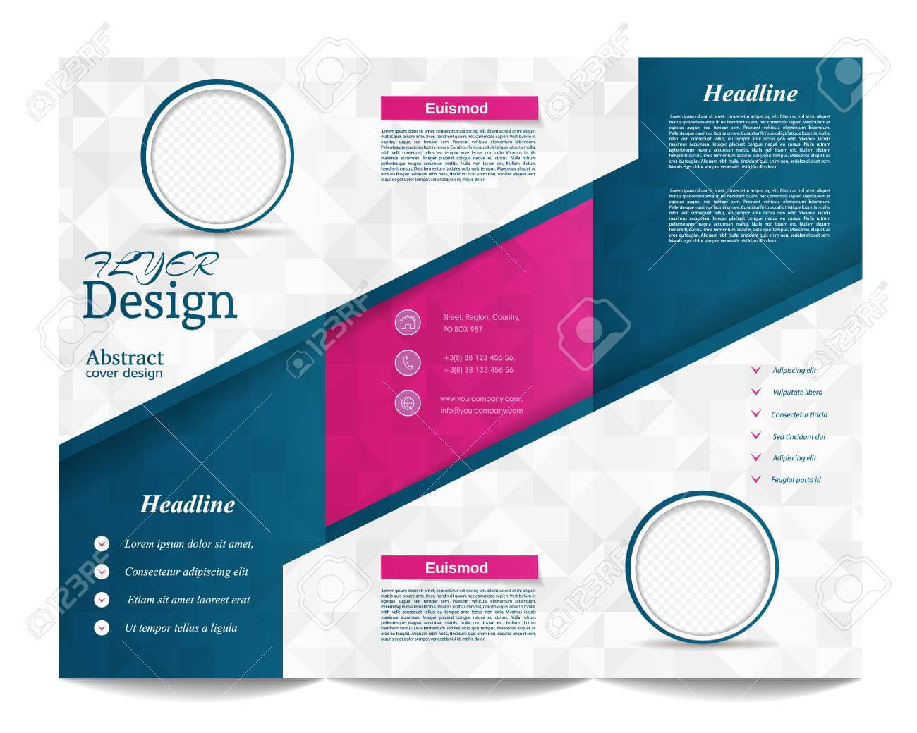 Tri Fold Brochure Template.corporate Business Background Or Cover.. Regarding Tri Fold Brochure Publisher Template