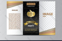 Tri-Fold Brochure Template For Halloween Party throughout Illustrator Brochure Templates Free Download