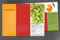 Tri Fold Brochure Template For Health And Nutrition. Order With Regard To Nutrition Brochure Template