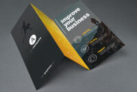 Tri Fold Brochure Template Psd with 3 Fold Brochure Template Psd