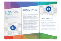 Tri Fold Brochure Vector Template – Download Free Vectors for 3 Fold Brochure Template Free Download