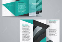 Tri-Fold Business Brochure Template, Two-Sided Template Design.. in Double Sided Tri Fold Brochure Template