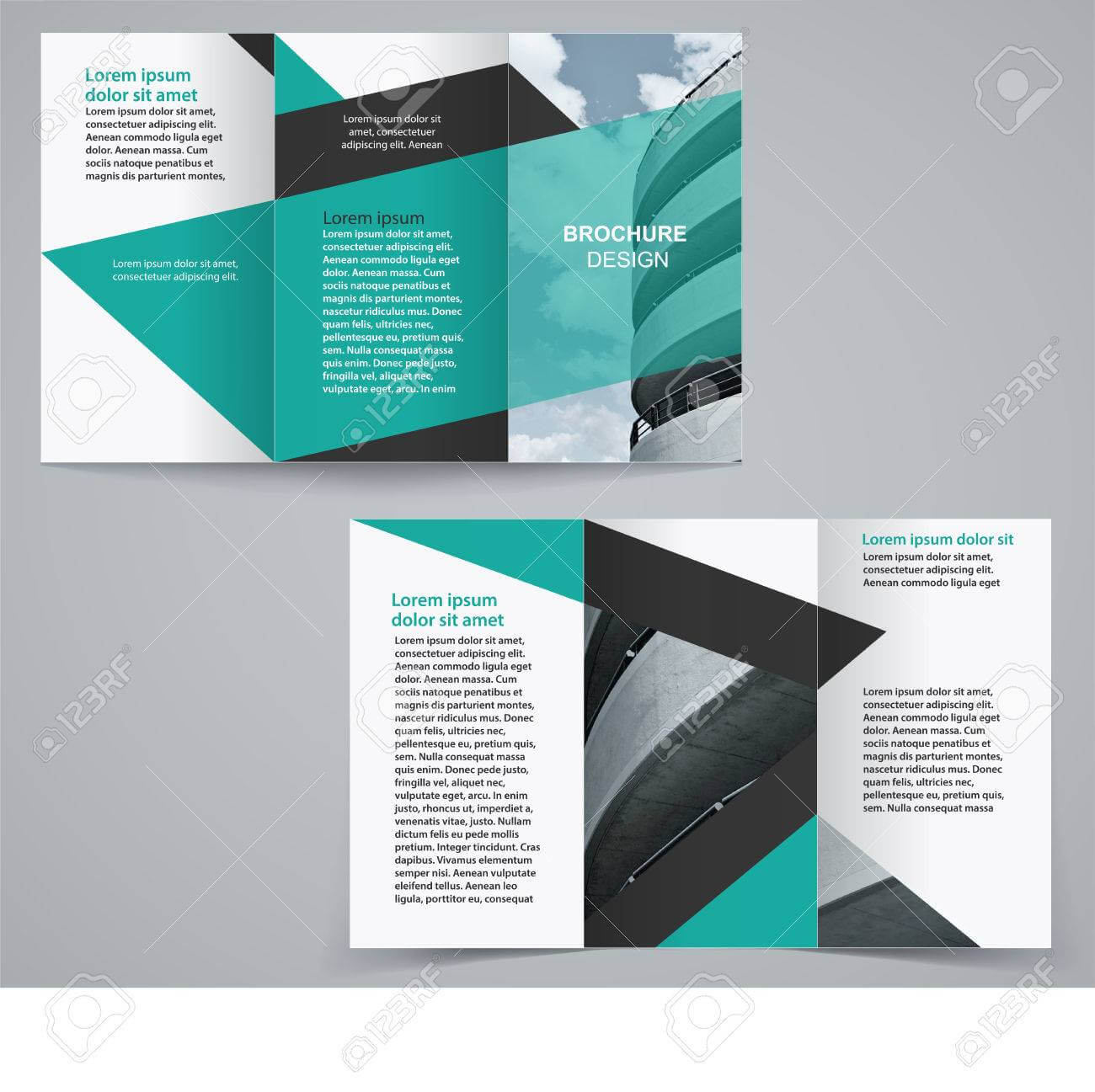 Tri Fold Business Brochure Template, Two Sided Template Design.. In Double Sided Tri Fold Brochure Template