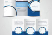 Tri-Fold Business Brochure Template, Two-Sided Template Design,.. within Double Sided Tri Fold Brochure Template