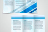 Tri-Fold Business Brochure Template Two-Sided Vector Image pertaining to Double Sided Tri Fold Brochure Template
