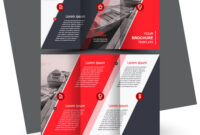 Tri-Fold Red Brochure Design Template with regard to Free Three Fold Brochure Template