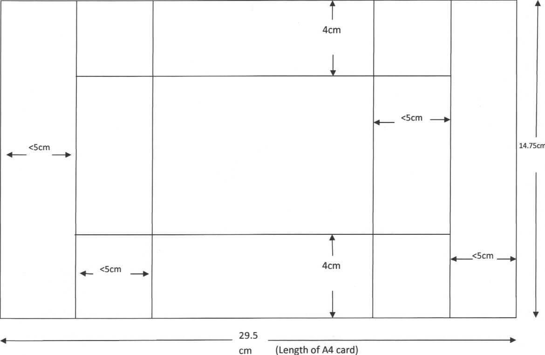 Tri Shutter Card Template Using A4 Card | Kaart Modellen Regarding Three Fold Card Template