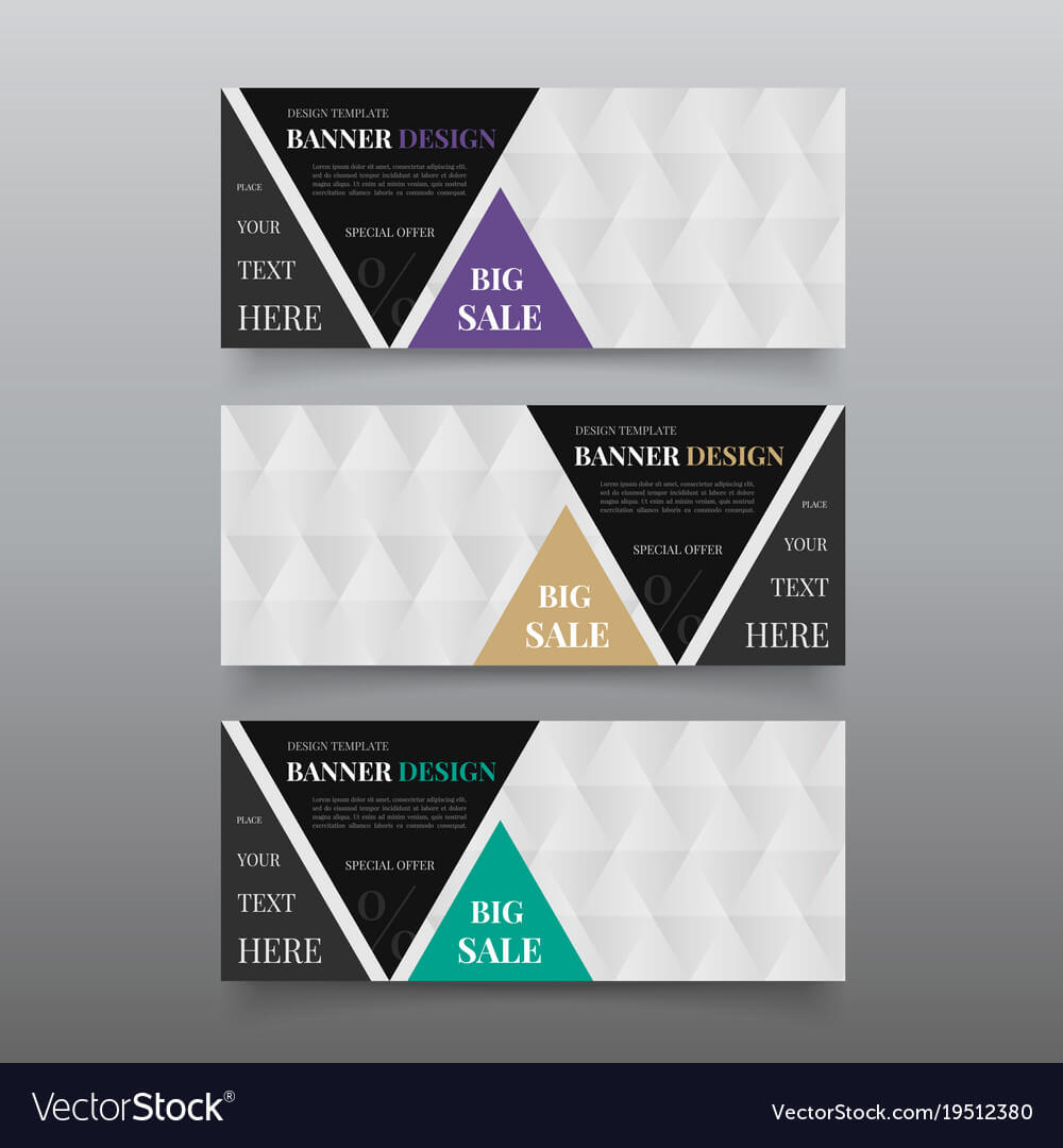 Triangle Banner Design Templates Web Banner In Website Banner Design Templates