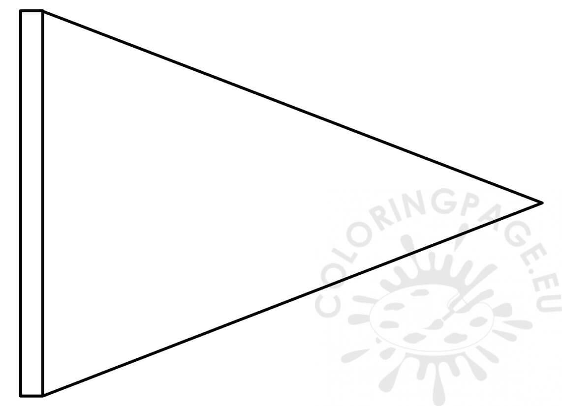 Triangle Flag Banner Template – Coloring Page for Triangle Pennant Banner Template