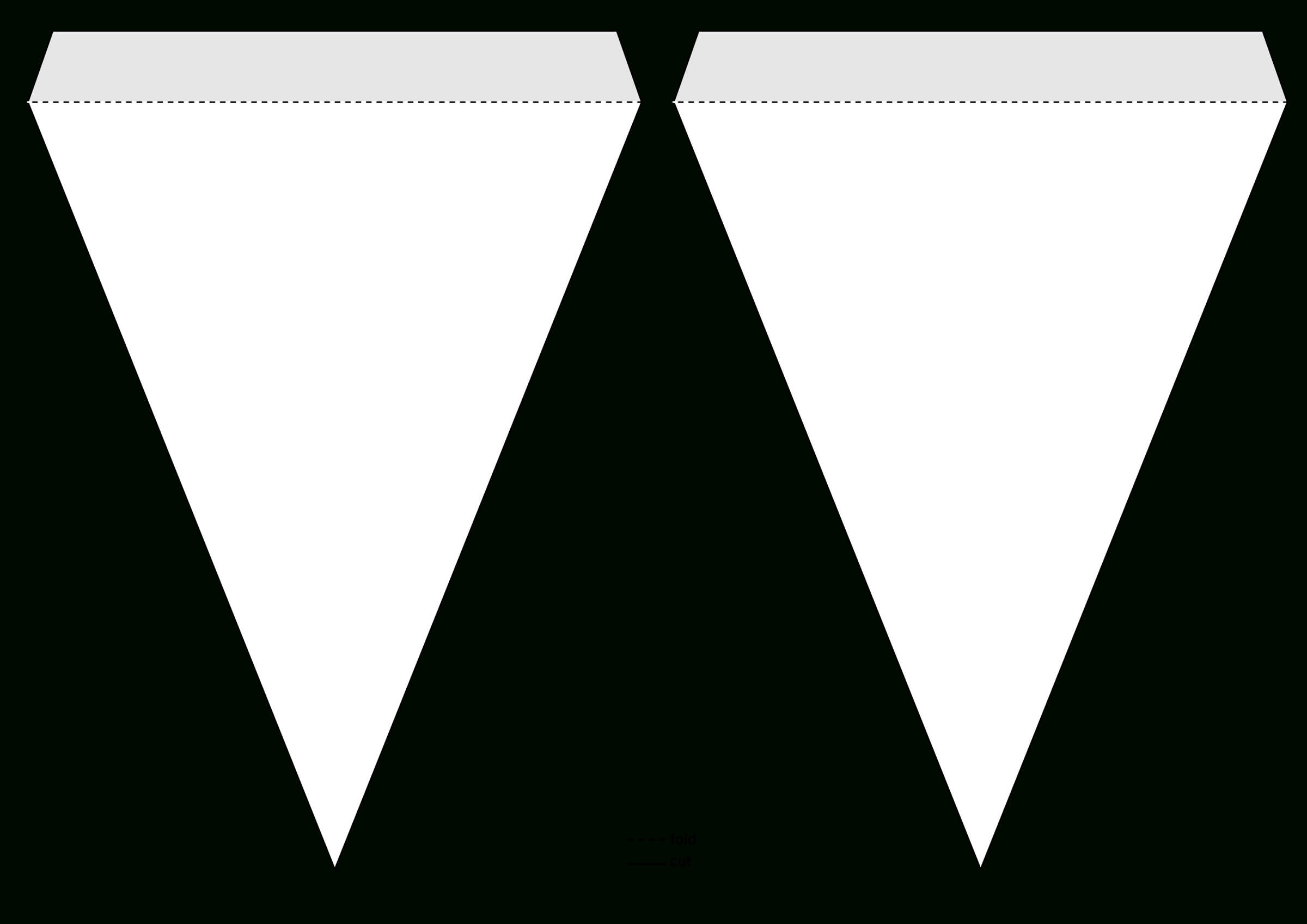 Triangle Pennant Banner Template@grafixgrrl, This Is A inside Triangle Pennant Banner Template