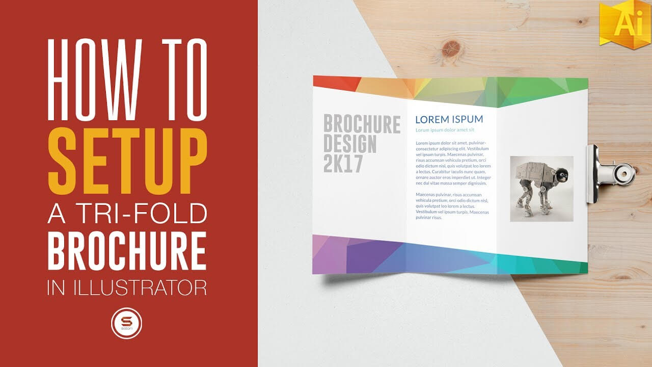 Trifold Brochure For Print In Illustrator - Illustrator Tutorial intended for Tri Fold Brochure Ai Template
