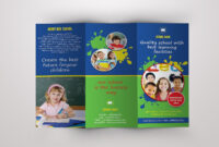 Trifold Brochure For School  V389Template Shop On Intended For Play School Brochure Templates