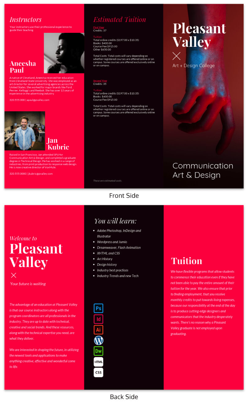Trifold Brochure Ideas -- Brochure Examples From Venngage with Good Brochure Templates