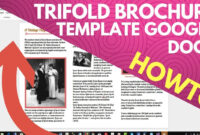 Trifold Brochure Template Google Docs with Brochure Template Google Docs
