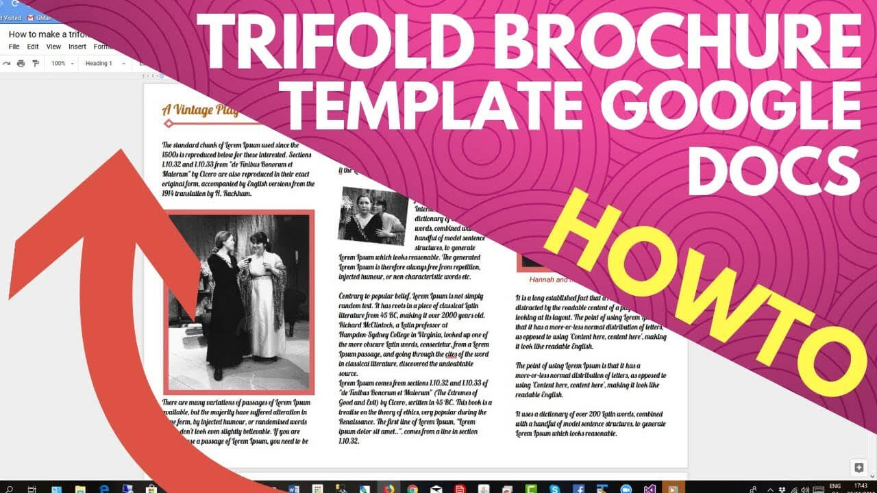 Trifold Brochure Template Google Docs with Google Doc Brochure Template