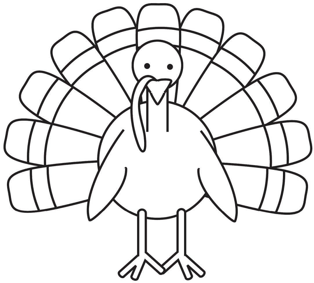 Turkey Coloring Page - Free Large Images | Turkey Coloring intended for Blank Turkey Template