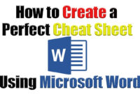 Tutorial | How To Create The Perfect Cheat Sheet Using pertaining to Cheat Sheet Template Word