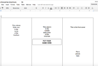 Tutorial: Making A Brochure Using Google Docs From A in Google Doc Brochure Template