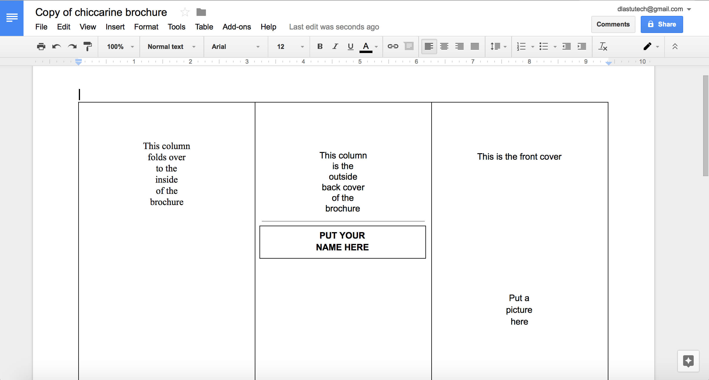 Tutorial: Making A Brochure Using Google Docs From A within Brochure Template For Google Docs