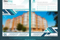 Two Sided Brochure Or Flayer Template Design With One Blurred.. regarding One Sided Brochure Template