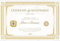 Unique Certificate Of Accomplishment Template Employee The for Promotion Certificate Template