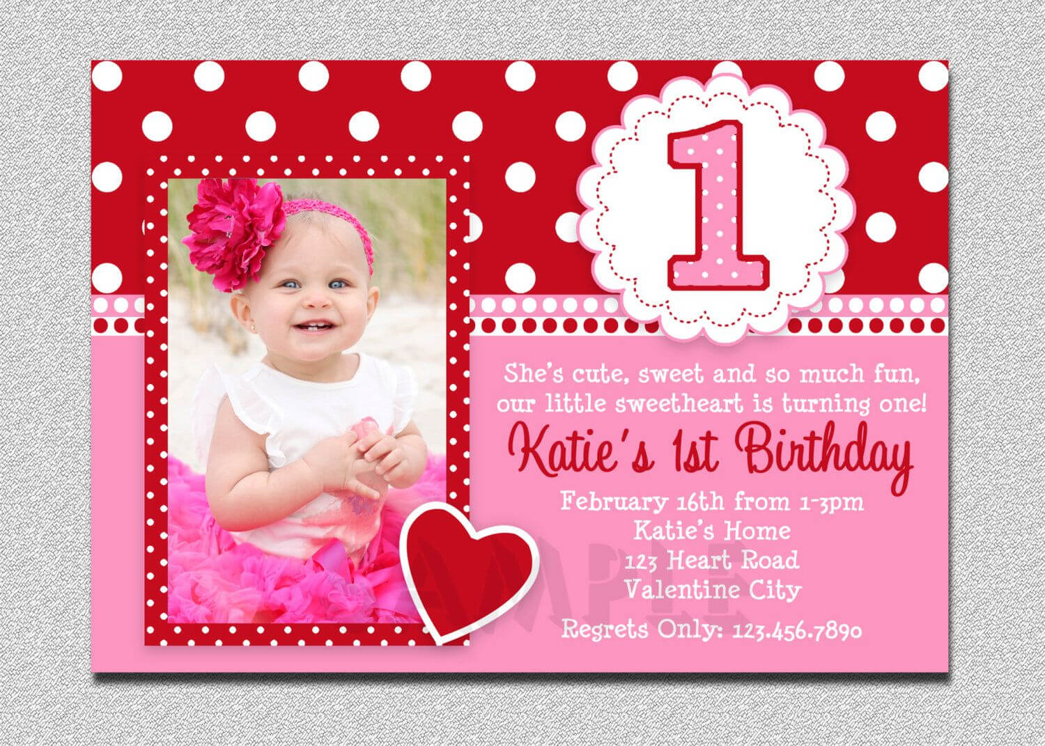 Unique Ideas For First Birthday Party Invitations Templates with First Birthday Invitation Card Template