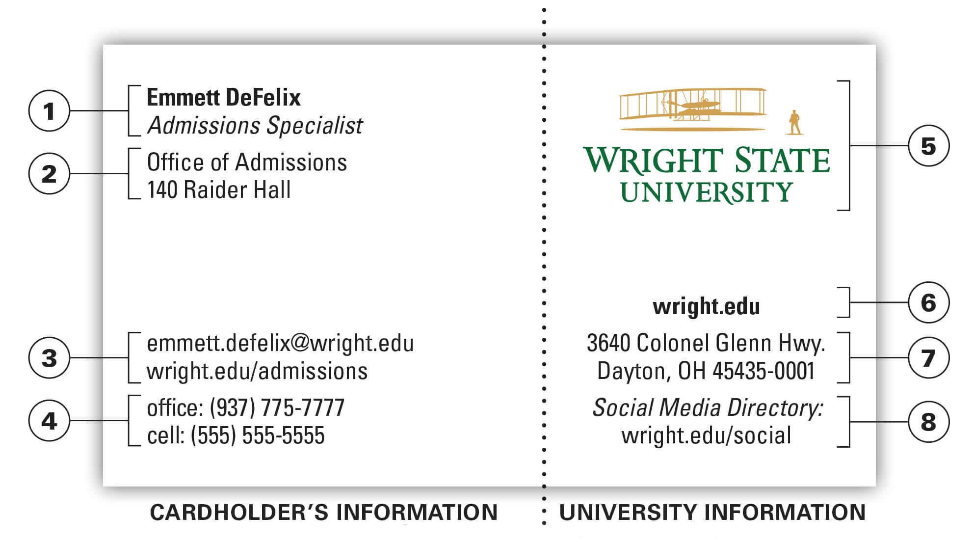 University Business Card | The Wright State University Brand with regard to Open Office Index Card Template
