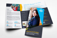 University College Tri Fold Brochure Templateowpictures regarding Tri Fold School Brochure Template