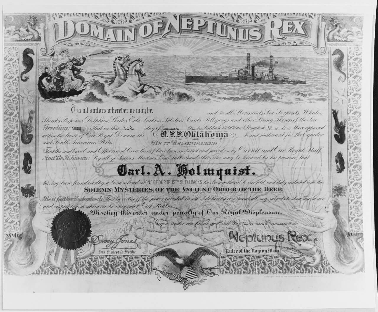 Unofficial Navy Certificates For Crossing The Line With Crossing The Line Certificate Template